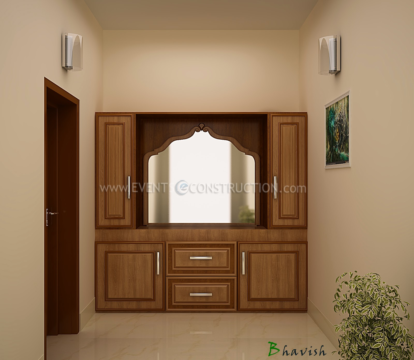 Evens Construction Pvt Ltd: Beautiful Dressing Table Design
