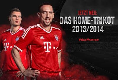 Les nouveaux maillots Bayern Munich 2013-2014