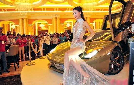 Chân dài tại triển lãm xe Ô tô Trung Quốc raw