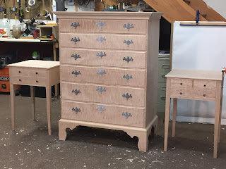 Custom Handmade Chest and Nightstands Bedside Table
