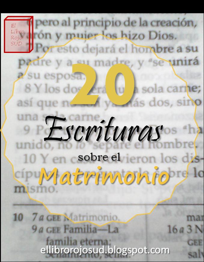 Matrimonio Y La Biblia : El libro rojo sud escrituras sobre matrimonio