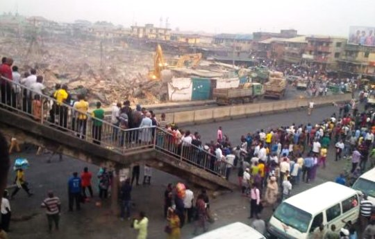 The Popular Owonifari Market In Oshodi was demolished today