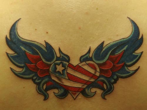 Heart Wings Tattoo