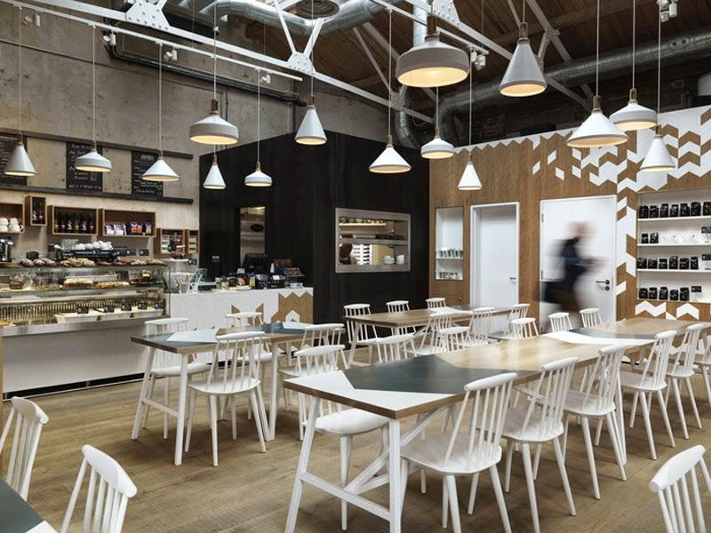 mejores diseños de interiores de bares y restaurantes del mundo, Cornerstone Cafe