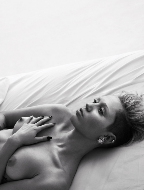 Miley Cyrus naked in bed by Mert & Marcus
