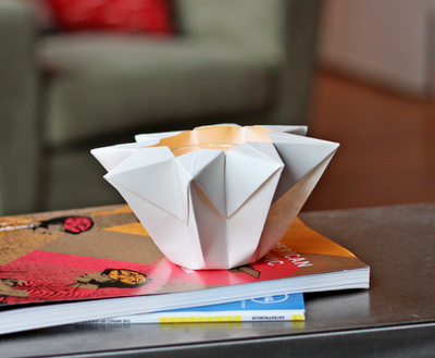 Tutorial portavelas origami DIY candle holder