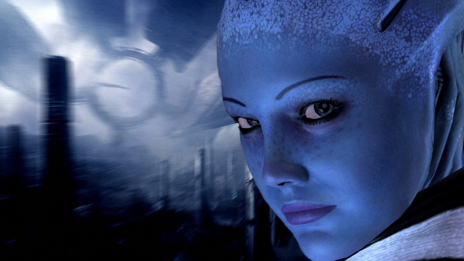 Just Walls Liara Tsoni Wallpaper Mass Effect