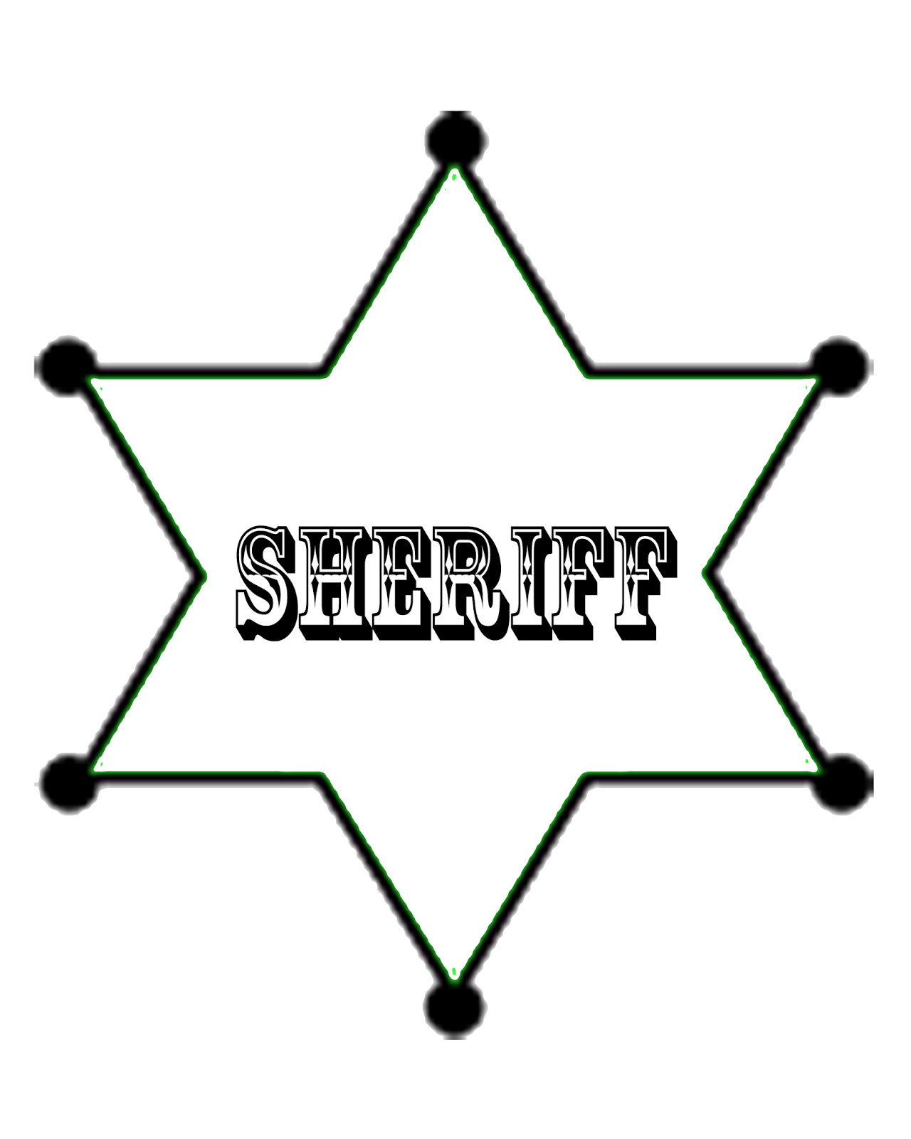 Crafts And Creations By Dancing Cowgirl Design Sheriff Badge Free
