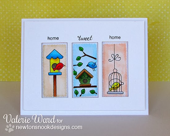 Tweet Talk Bird card by Valerie Ward for Newton's Nook Designs