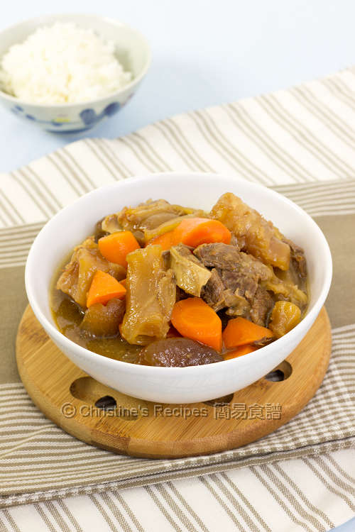 南乳燜牛筋牛腩 Beef Tendon and Brisket Stew01