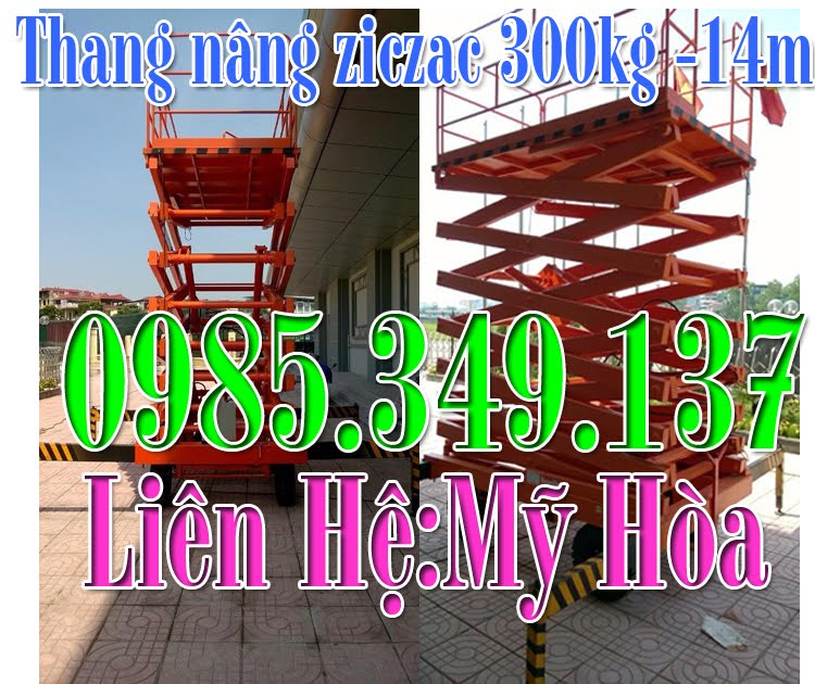 Thang nâng ziczac 300-14m Noveltek