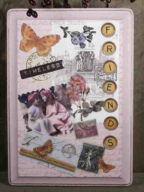 Friends Altered Art Plaque