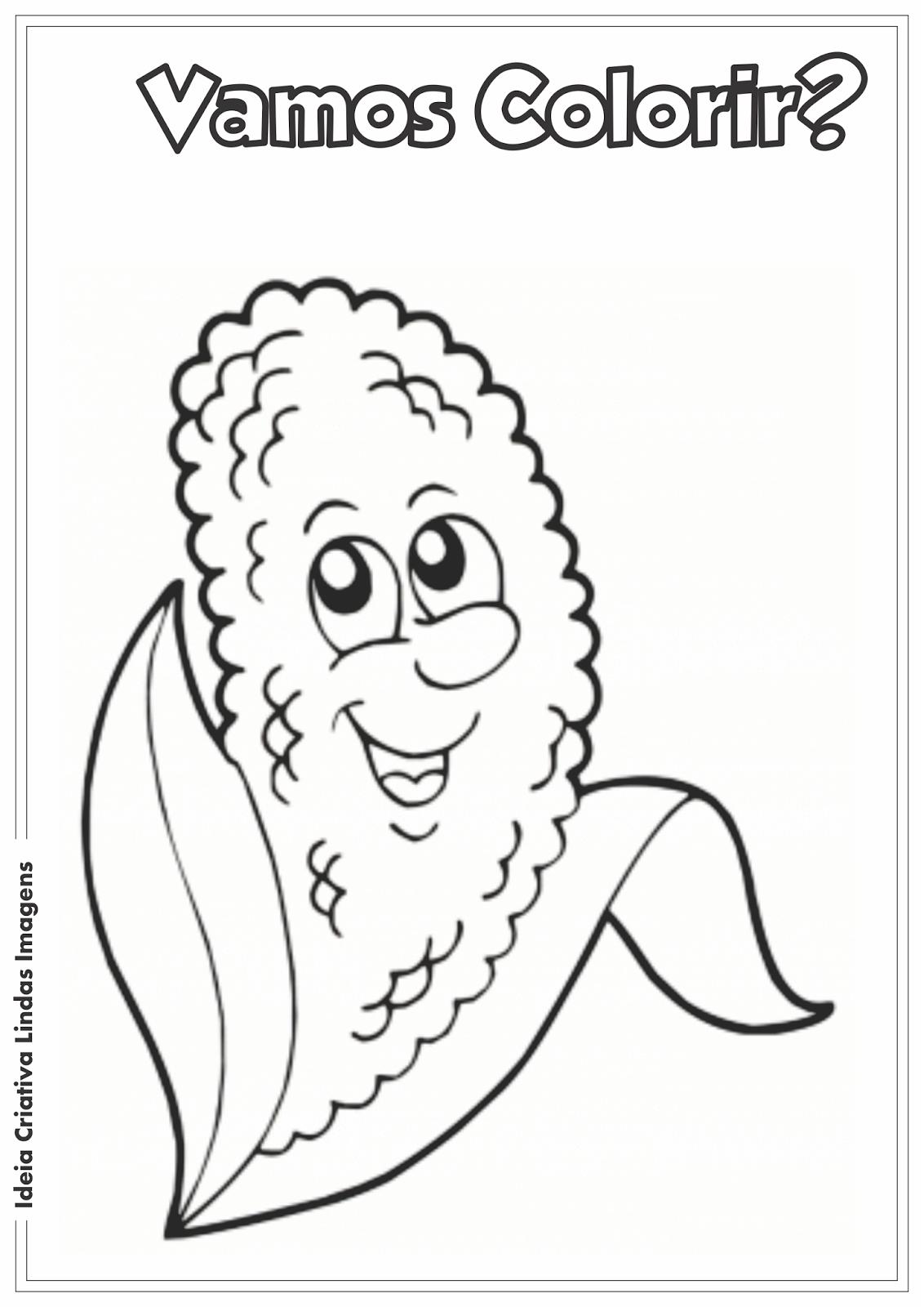 Festas Juninas desenho para colorir