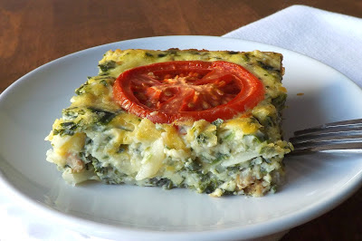 Spinach Quiche Squares