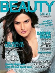 Zareen Khan on the cover of Beauty & Style [October 2012]