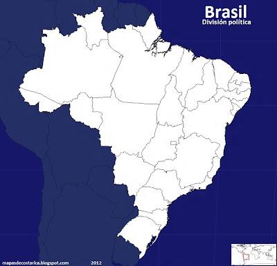 División política de Brasil (seterra)