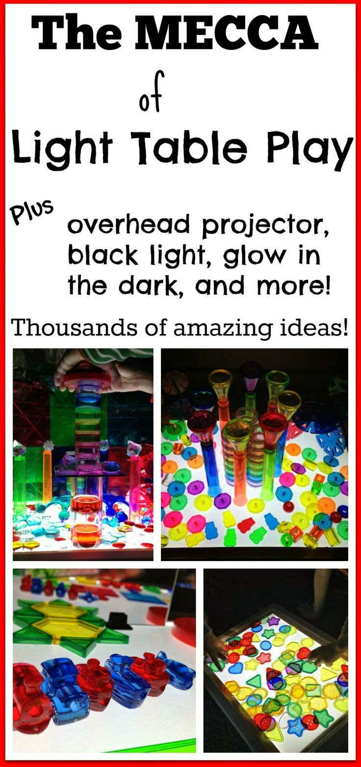 amazing light table activities, ideas, play, and learning