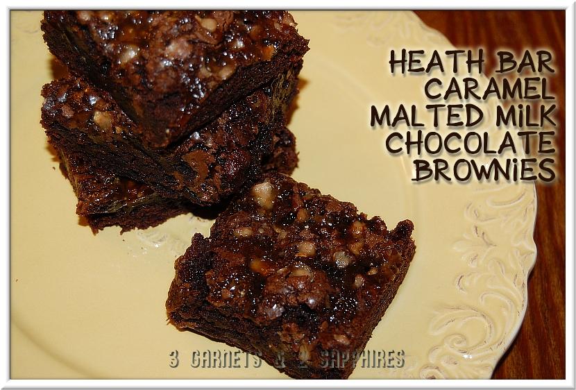 ... : Easy Recipe: Heath Bar Caramel Malted Milk Chocolate Brownies