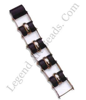 Modernist Chrome & Bakelite Bracelet, late 1920s-30s