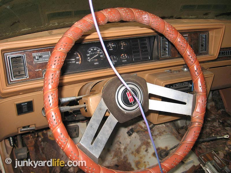 Complete dash, gauges and steering wheel are a bonus with this free car.