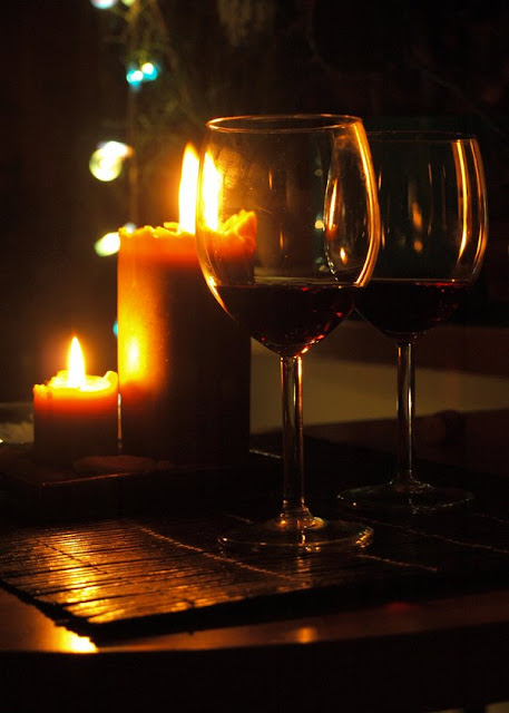 Living Room Date Night Candles