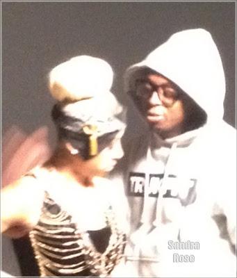 fotos de lil wayne y keyshia cole grabando el video de enough of no love