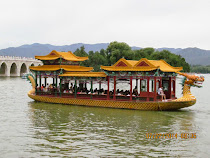 Dragon Boats, Lake Kunming at Summer Palace, Beijing, China