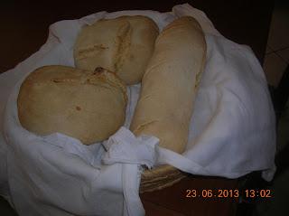 pappardelle con zucca e latte di soia...costine di vitella arrosto con verdure miste e pane fatto in casa