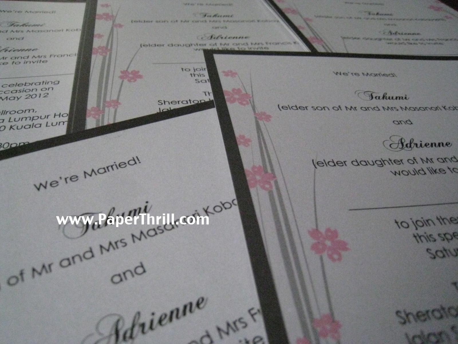 Adrienne\'s japanese wedding invitations | Malaysia wedding ...