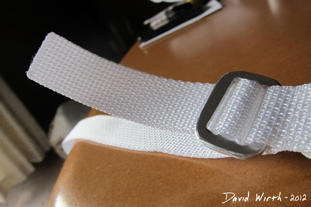 how to attach backpack strap to buckle, loop through clasp, strap