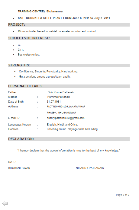 resume format for freshers ece engineers pdf dental