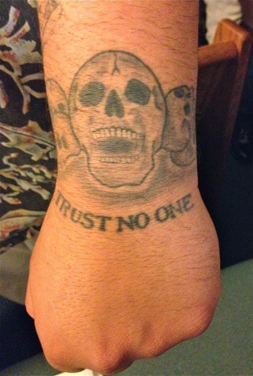 Slightly irregular trust no one for Trust no one tattoo