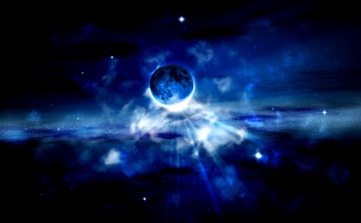 Blue Space Wallpaper   WallpaperSafari