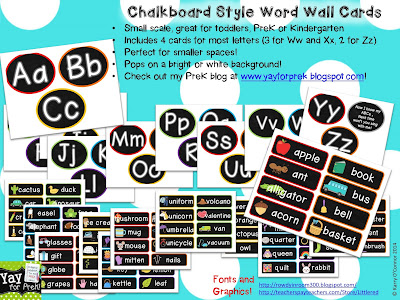 https://www.teacherspayteachers.com/Product/Chalkboard-Style-Word-Wall-Toddler-PreK-and-Kindergarten-838143