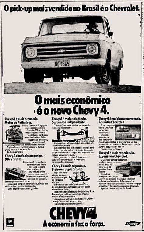 Chevrolet. reclame de carros anos 70. brazilian advertising cars in the 70. os anos 70. história da década de 70; Brazil in the 70s; propaganda carros anos 70; Oswaldo Hernandez;