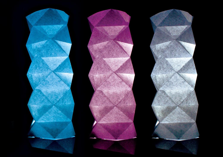 Jeguridos crafts lampara geom trica de papel origami - Lamparas de pie de papel ...