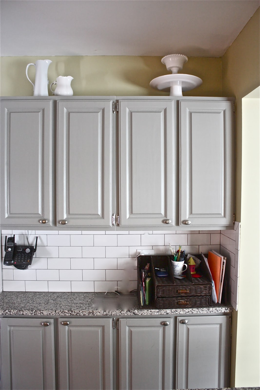 Stewart would be so proud of her Bedford Gray color on these cabinets