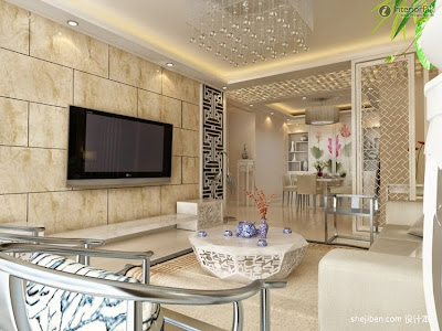 Pemanfaatan Keramik Dinding Pada Ruang Tamu Minimalis