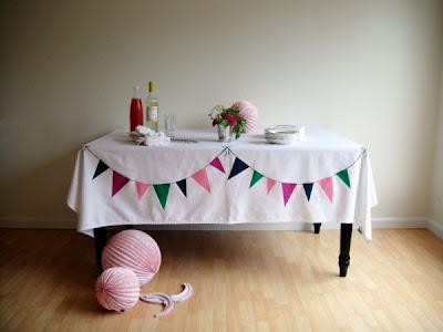 Pintura em toalha de mesa para decoração de festas juninas