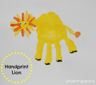 handprint lion