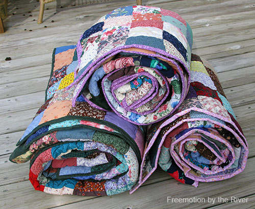 3 Fast and Easy Scrappy Quilts at Freemotion by the River