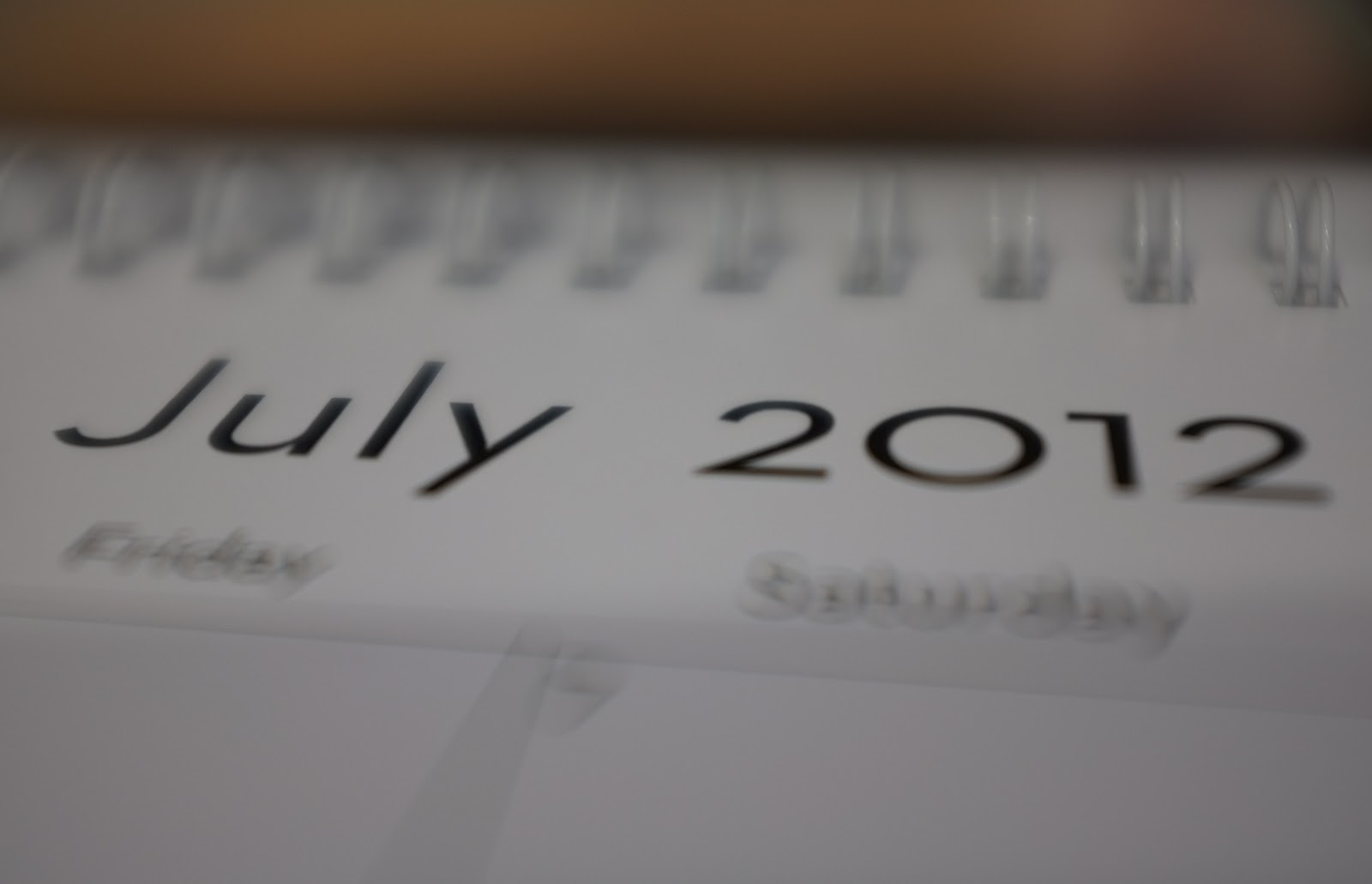 Goodbye July!