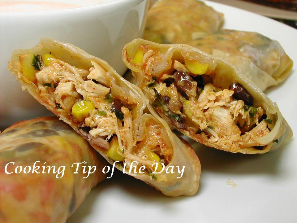 Cooking Tip of the Day: Recipe: Southwestern Egg Rolls