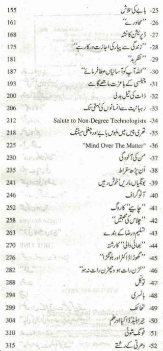 Index of Zavia part 2 by ashfaq ahmad