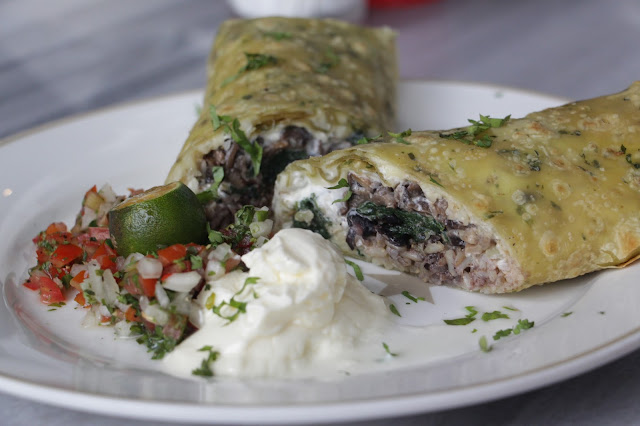 Popeye Chicken Spinach Burrito