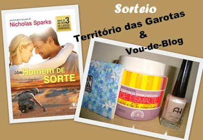 SORTEIO EM PARCERIA COM O BLOG TERRITÓRIO DAS GAROTAS