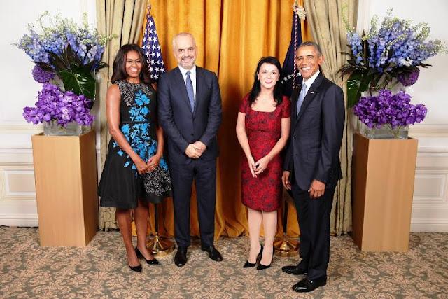 Çifti Rama foto me çifti Obama