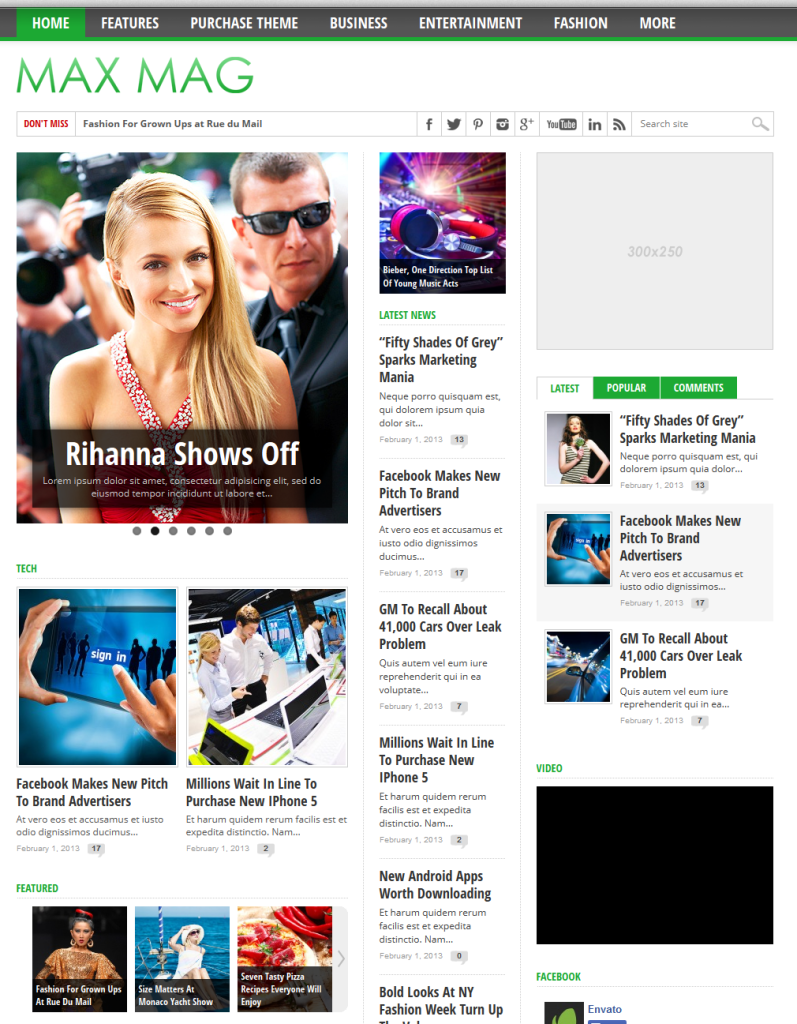 Wordpress] - Max Mag Responsive Wordpress Magazine Theme | Blog ...