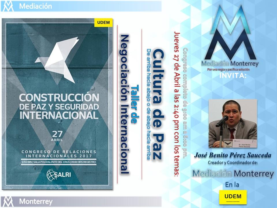 Construcción de Paz y Seguridad Internacional UDEM
