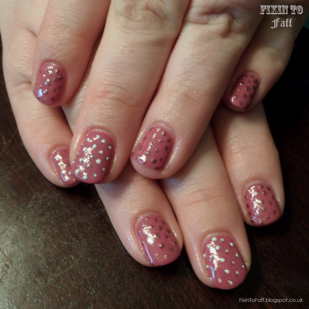 Madam Glam Vintage Pink gel polish manicure.